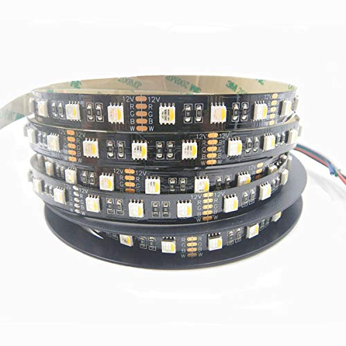 Visdoll 5050 Rgbw 4 in 1 Led Strip Light DC12V, 16.4Ft 300Leds RGB+ Cool White 4 Colors in 1 Led Dimmable Flexible Light Tape Non-waterproof