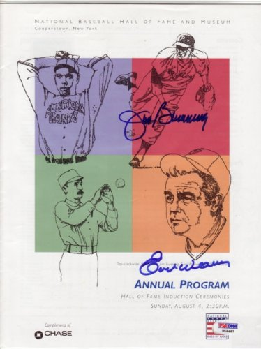 Jim Bunning/Earl Weaver Dual Signed HOF Program - PSA/DNA (Media Dual Coin)