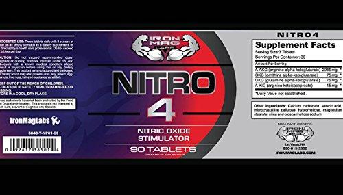 Iron Mag Labs NITRO4TM NO2 Enhancement Formula, Stimulant