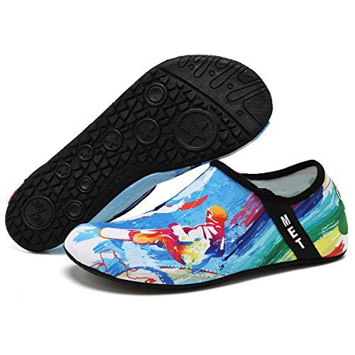 VIFUUR Wassersport Schuhe Barfuß Quick-Dry Aqua Yoga Socken Slip-On für Männer Frauen Kinder Surfen