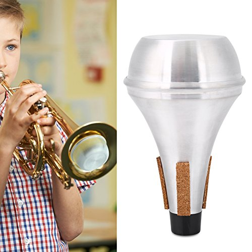 Dilwe Trumpet Mute, Cork Strips Aluminum Alloy Practice Trumpet Cornet Mute Silencer by Dilwe (Image #2)