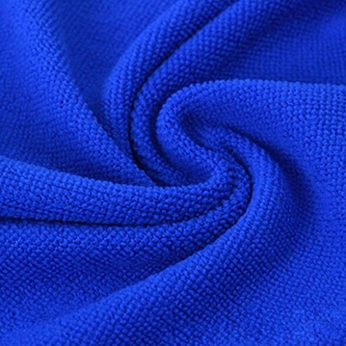Rucan 5Pcs Blue Soft Absorbent Wash Cloth Car Auto Care Microfiber Cleaning Towels by Rucan (Image #4)