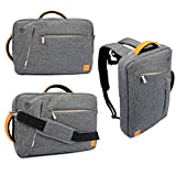 VanGoddy Collection 3 in 1 Shoulder Bag Backpack and Messenger Bag for Microsoft Surface Pro 4 / Pro 3 12-inch Tablet / Surface Pro 2 10.6-inch Tablet (Grey)