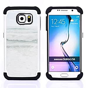 For Samsung Galaxy S6 G9200 - grey stormy seas weather ocean coast Dual Layer caso de Shell HUELGA Impacto pata de cabra con im??genes gr??ficas Steam - Funny Shop -