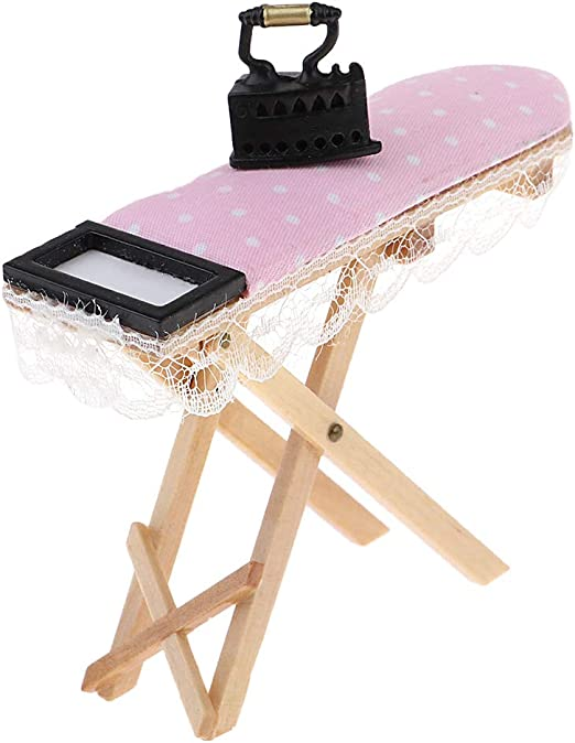 3pcs Dollhouse Miniature Ironing Board Sewing Machine /& Mannequin Model Stand