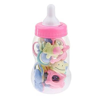 Baoblaze Sonajero Conjunto de Mordedor en Botella Juguetes de Primera Infancia Juegos de Mesa