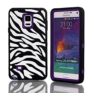 Phone Case Samsung Note 4,Ezydigital Carryberry Cell Phone Back Case Cover Protector for Galaxy Note 4(Elephant)(PURPLE)