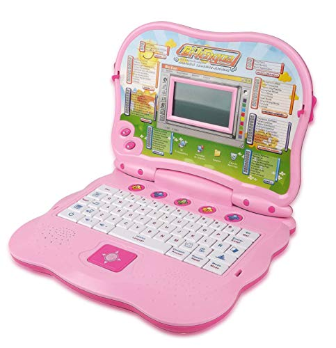 Liberty Imports Bilingual Advanced Learning Children Laptop - English and Spanish (Pink)