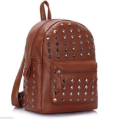 ANNA GRACE - Bolso mochila  de piel sintética para mujer Design 1 - Brown
