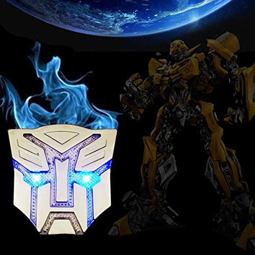 HengJia Auto Parts NEW coming Car Solar energy decoration Transformers Sticker Logo Metal 3D Decepticons Emblem Badge Decal Truck Auto Solar energy led Styling Warning Lamp (Optimus prime) - Autobot Car Badge