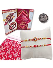 Beads and Aum Rakhi combo for your Brother on this Raksha Bandhan Code:S2-37