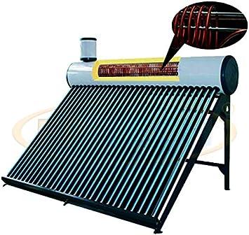 FP-TECH - Panel solar térmico para agua caliente, 240 l, con serpentina para piscina, termosifón