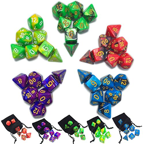 New 7 Die Polyhedral Dice Set product image