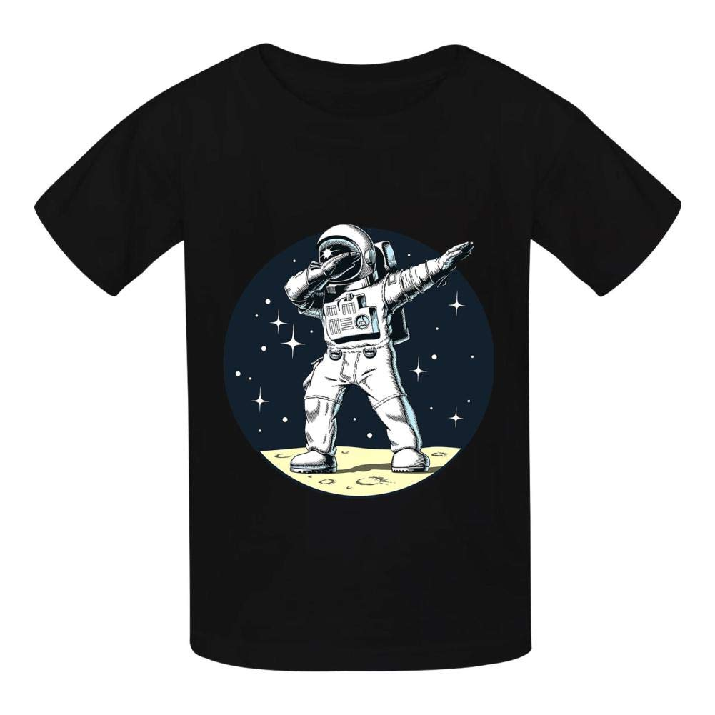 Kendo Astronaut Dabbing Dance Basic Daily Wear Cotton Graphic T Shirts for Girls and Boys