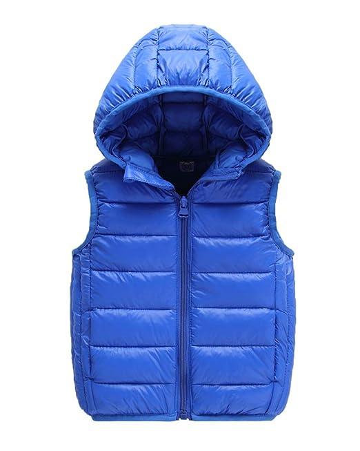 Unisex Bambini Bambino Gilet Piumini Inverno Cappotto con Cappuccio  Smanicato Giacche per Ragazze Ragazzi  Amazon.it  Abbigliamento b2b912d59ba