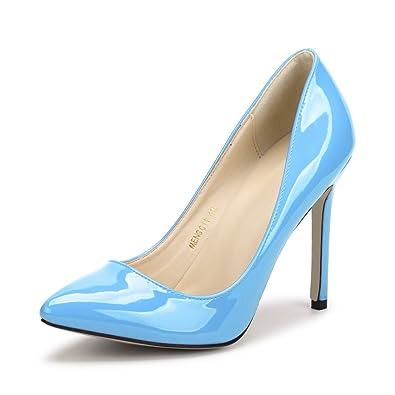OCHENTA Damen Pumps Sexy Stiletto High Heels Klub Modisch ohne Verschluss Kleidschuhe #11 Rot Asiatisch 44/EU 42 tOpfLCJf2y