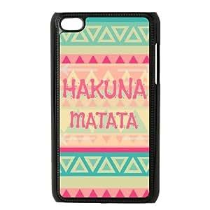 Lycase(TM) Hakuna Matata Custom Durable Hard Back Plastic Case, DIY Hakuna Matata Ipod Touch 4 Case