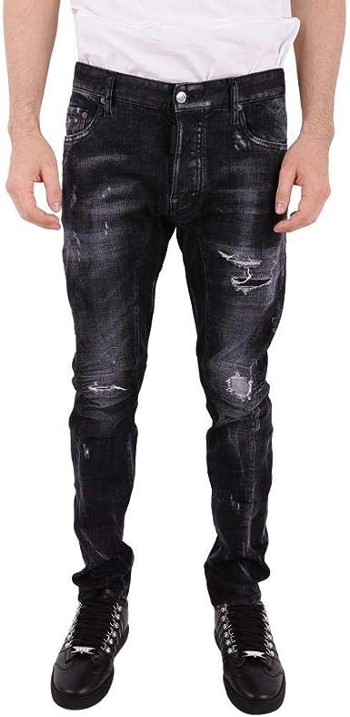 Dsquared Jeans Tidy Biker S74lb0397 Black Size 46 Amazon Es Ropa Y Accesorios