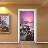 LWCX Creative Door Pasted Sea View Bedroom Waterproof