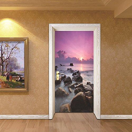 LWCX Creative Door Pasted Sea View Bedroom Waterproof by LWCX