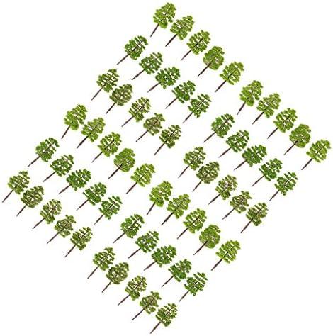 dailymall ツリーモデル 樹木模型 1/100 鉄道風景 マイクロ風景 建築模型 情景コレクション 約60本
