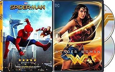 DC Cinematic Universe Wonder Woman 2-Disc Set & Spider-Man Homecoming Bundle Super Hero Double Feature
