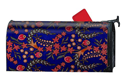 Verna Christopher Custom Magnetic Mailbox Cover Mail Wrap for Standard Mailboxes Cover-Texture Malaysia Batik Fabric Suit