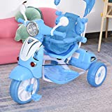 Qaba Children Ride-On Moped Tricycle with an