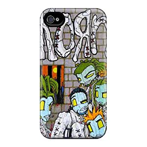 Shockproof Hard Phone Covers For Iphone 4/4s With Unique Design Attractive Korn Pictures RichardBingley