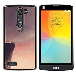 "Be-Star Único Patrón Plástico Duro Fundas Cover Cubre Hard Case Cover Para LG L Prime / L Prime Dual Chip D337 ( Volar Sueño acantilado Salto Base Arte Dibujo"" )"