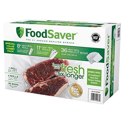 FoodSaver Replacement Rolls Combo Pack (5-Rolls + 30-Bags) FSFSBF084P