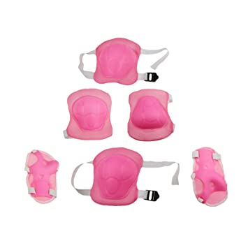 80e0ebdf61bc BXT Brand New Children s Professional 6 PCS Skating Cycling Skateboard Knee  and Elbow Palm Safety Pad Set Protector Knee Wrist Brace Support   Amazon.co.uk  ...