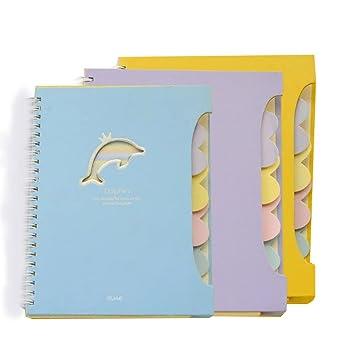GRT A5 Juego de toallas de bobina Notebook, gefliestes Cuaderno, material de oficina,