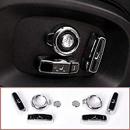 YIWANG ABS 8 Pcs Seat Adjustment Button Trim Cover Accessories For Discovery Sport EVOQUE Vogue Velar Discovery 5,For XE//XF F-Pace