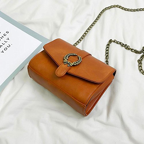 Crossbody Girl Shoulder Brown Bag Retro Brown Mini Demiawaking Women Chain Handbag Messenger xnXqY11F
