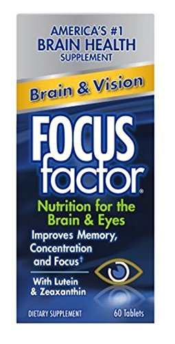 FOCUS Factor Dietary Supplement, Brain & Vision, 60 Tablets (Plus Dietary Supplement Tablets Same)