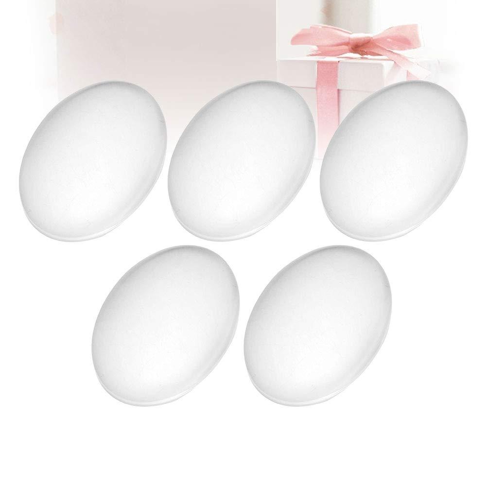 SUPVOX Oval Cabochon Transparente Transparente de Vidrio Cabochons para Foto Colgante Craft Jewelry Making 50pcs 30x40mm
