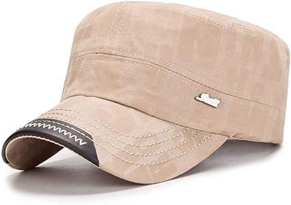 HUOLIMAO Sombreros Militares De Moda para Hombres Mujeres Gorras ...