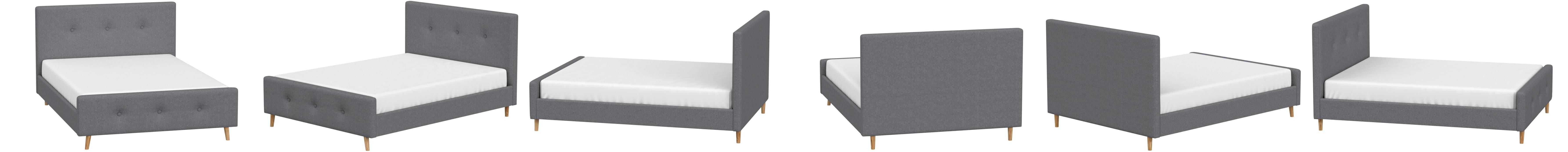 Mobilier Deco - Cama escandinava para 2 personas, tejido gris ...