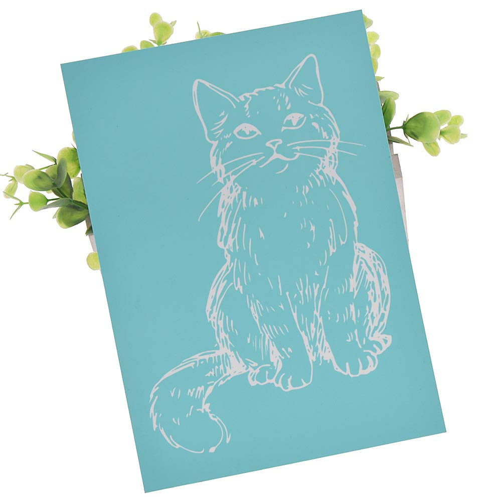Cattle YeulionCraft DIY Self-Adhesive Silk Screen Printing Stencil Mesh Transfers for Decoration Wooden Board,T-Shirt,Ceramic Tile,Pillow Fabric,Painting