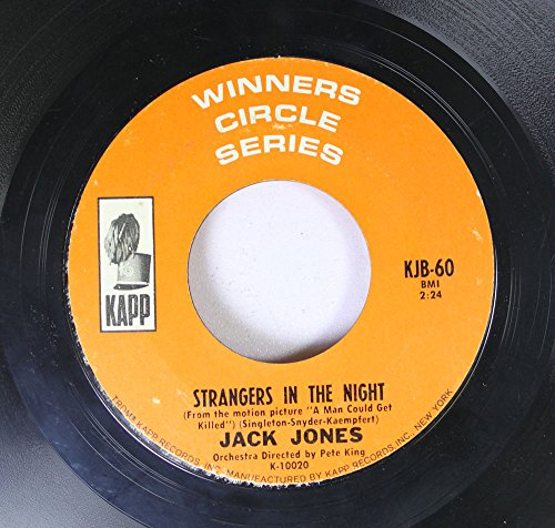 JACK JONES 45 RPM STRANGERS IN THE NIGHT / THE IMPOSSIBLE DREAM (The Quest)