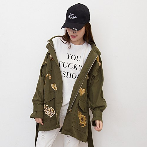 Foutune Term Mean Long Term Medium The Code Green9128 Jacket In Wind Relaxd Xuanku Badge To Long Medium Smile Of To CPTZRnwaq