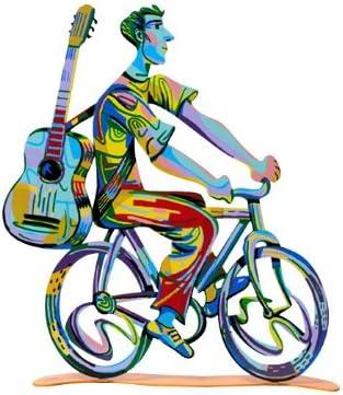 World Of Judaica David Gerstein Troubadour Bike Rider Sculpture