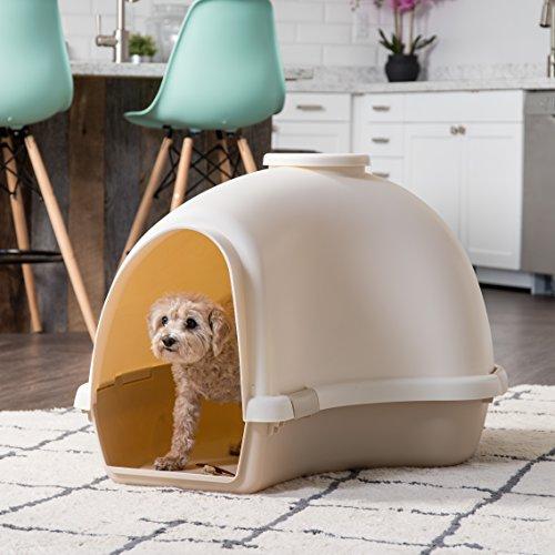 IRIS IDH-L Large Igloo Shaped Dog House, White/Almond by IRIS USA, Inc. (Image #1)