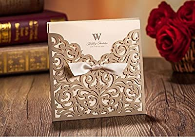 CYNDIE Hot Sale New Wedding Invitation Cards with Envelopes Seals Custom Personalized Printing