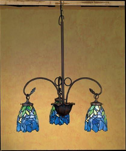 Nouveau Iris 3 Light Chandelier