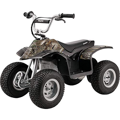 Razor Dirt Quad Electric Four Wheeled Off Road Vehicle Camo Black