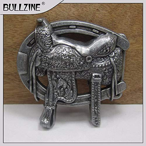Buckes - The Saddle Belt Buckle with Pewter Finish FP-03376 Suitable for 4cm Width Belt