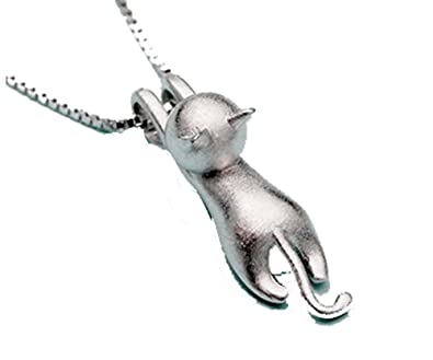 Ladies 925 sterling silver cat pendant necklace for women girls ladies 925 sterling silver cat pendant necklace for women girlsf1581 mozeypictures Choice Image