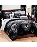 Bone Collector Comforter/Sham Set, Twin, Black/Grey